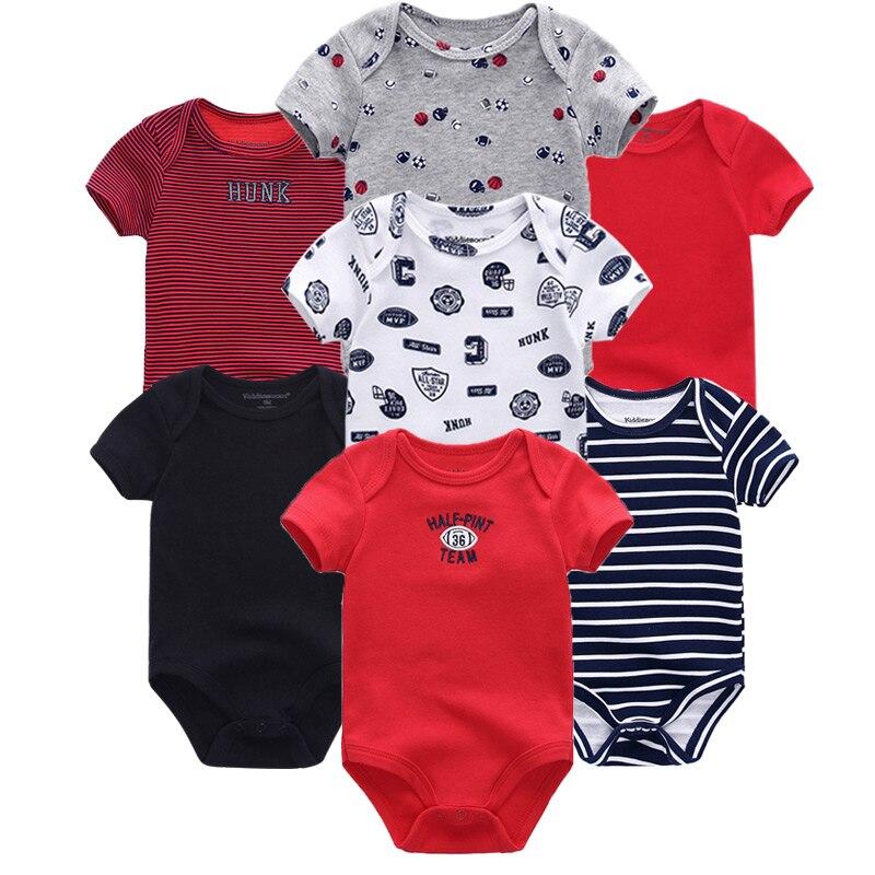 HTB1kO9iaUzrK1RjSspmq6AOdFXaG Top Quality 7PCS/LOT Baby Boys Girls Clothes 2019 Fashion Roupas de bebe Clothing Newborn rompers Overall baby girl jumpsuit