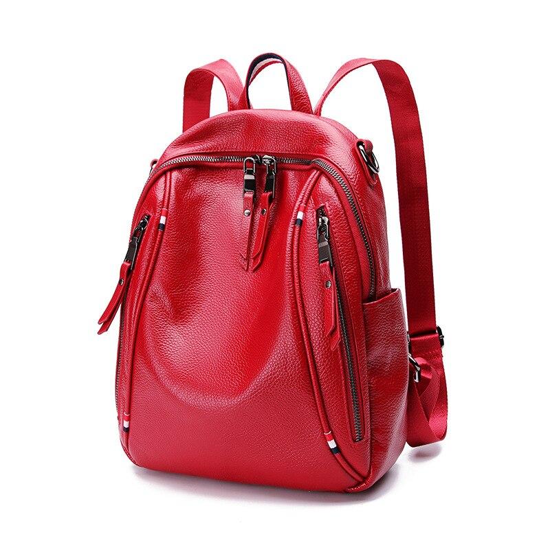 JIULIN, черный рюкзак из натуральной кожи, сумка для колледжа, для ноутбука, для путешествий, маленький, Противоугонный, для женщин, для девочек, мода - 2
