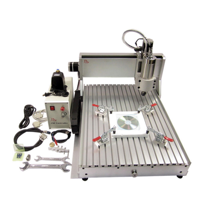 Big work area 6090 cnc milling cutting machine 1.5KW water cooling spindle for metal  aluminum stone cnc dc spindle motor 500w 24v 0 629nm air cooling er11 brushless for diy pcb drilling new 1 year warranty free technical support