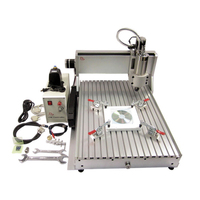 Big work area 6090 cnc milling cutting machine 1.5KW water cooling spindle for metal aluminum stone