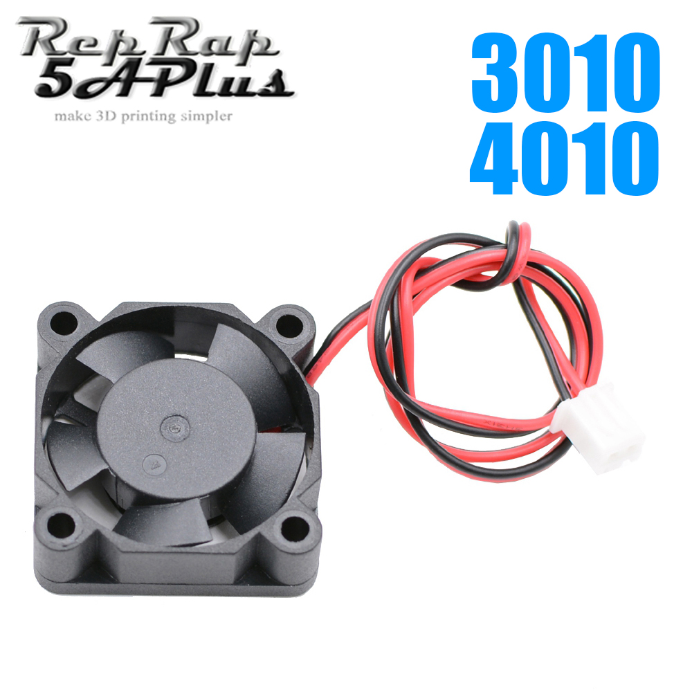 4010 or 3010 DC Cooling Fan 10pcs 12V / 24V Brushless 2-Wire Cooling Fan For 3D Printer J-head Hotend Extruder free shipping 3d printer fan cooling fan 4010 24v 40 40 10mm 4010 5 12 24 v brushless dc fans for heatsink cooler cooling