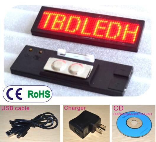 ROUGE LED Electronique Affichage Badge Carte De Visite Ping Defilement Publicite Ecran Marque Led Travail Numero Demploi Dans Nouveaute