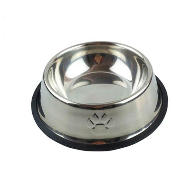 Cat Dog Food Bowl Stainless Steel High Quality Pet Feeding Drinking Bowls Voerbak Hond Rvs Plate Hond Voerbak Pets Goods 50Z0500