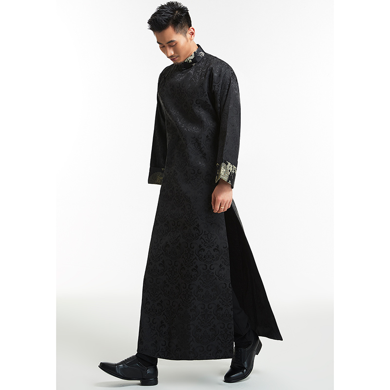 Robe de mariée chinoise Groomsman traditionnel chinois robe de mariée hommes marié Toast robe Tang Costume Dragon Phoenix veste