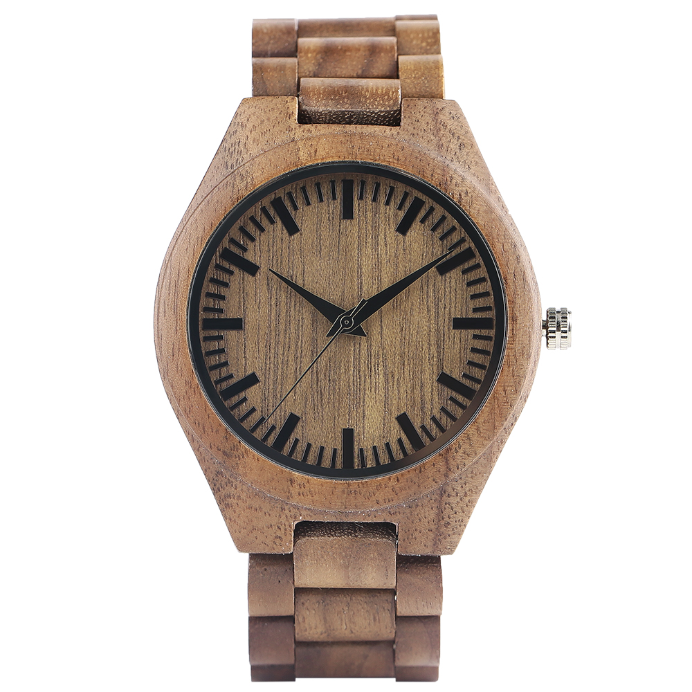 YISUYA Nature Bamboo Wood Creative Watches Men Casual Sport Wooden Quartz Wrist Watch Men Women Flod Clasp Band Bangle Clock  (16)