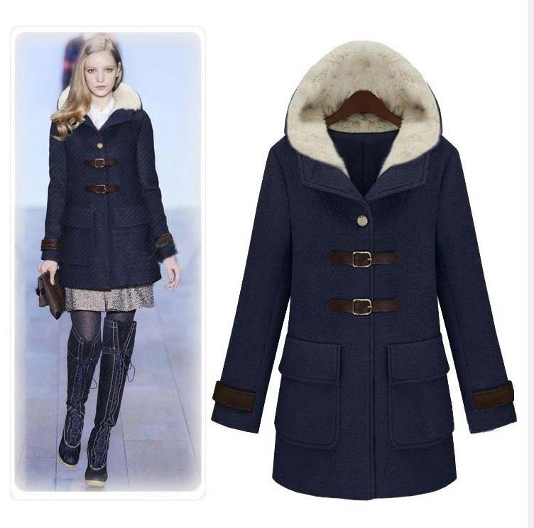 Online Get Cheap Women's Wool Coat Hood -Aliexpress.com ...