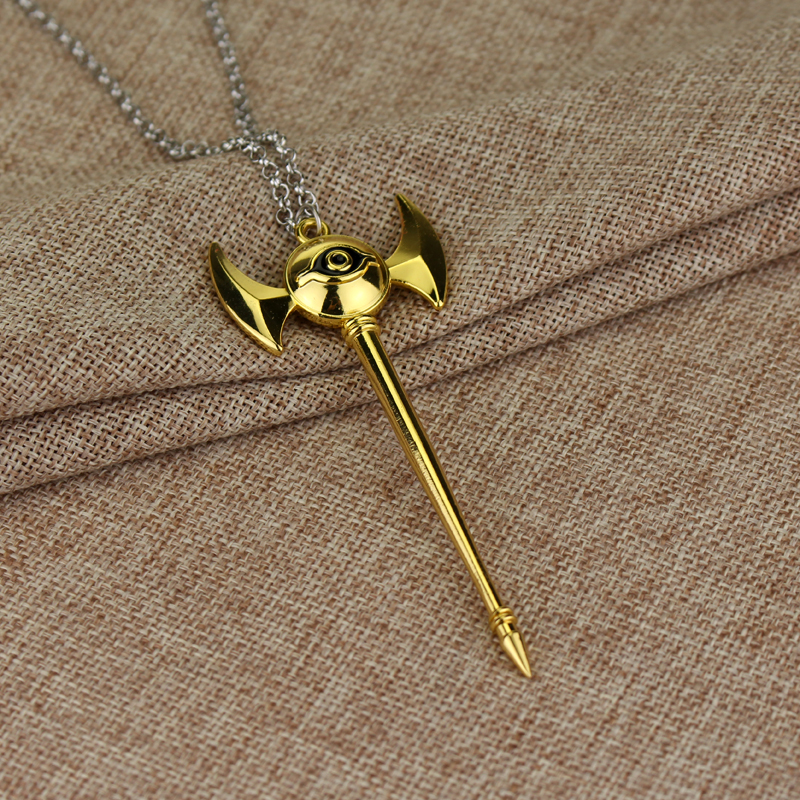Anime Yugioh Millenium Pendant Egyptian 3D Yu-Gi-Oh Chain long necklace Duel Monsters women or men Jewelry 2 Colors