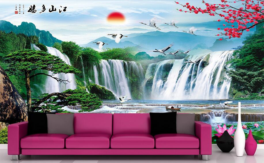 3d wallpaper custom photo non-woven mural wall sticker 3 d Lakes, waterfalls, mountains painting 3d wall room murals wallpaper 3d wallpaper custom mural non woven cartoon animals at 3 d mural children room wall stickers photo 3d wall mural wall paper