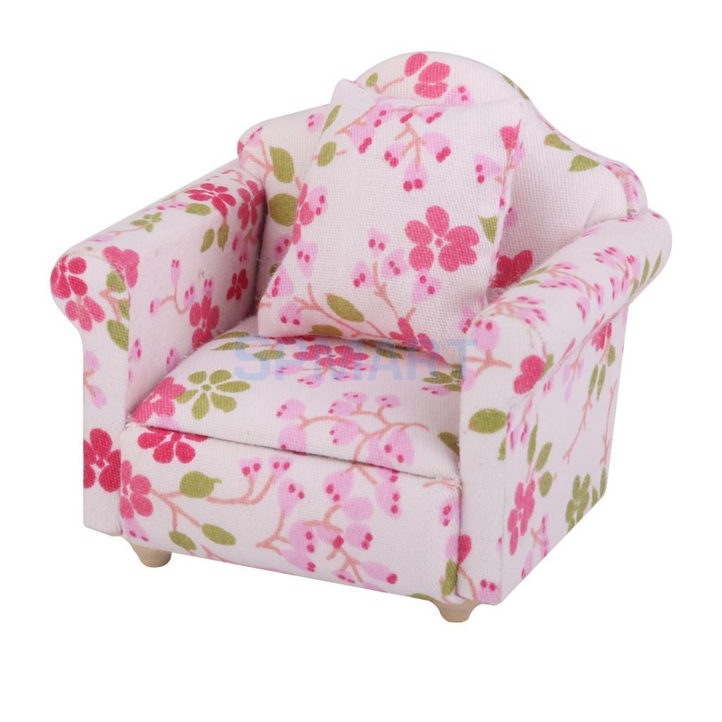 New Arrivals Dollhouse Mini Sofa Miniature Flower Single