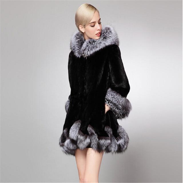 brand new 62858 09a5f US $104.73 |Originale grande femminile 2017 nuovo cappotto di pelliccia  artificiale pelliccia imitazione visone femmina pelliccia e inverno Parka  ...