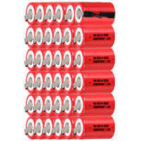 Lowest price 36 piece 4/5SC battery 1.2v batteries rechargeable 1800mAh nicd battery for power tools akkumulator