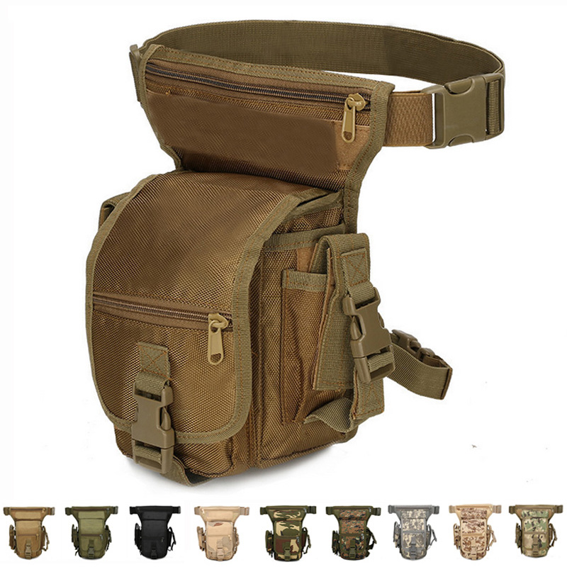 Tactical Drop Leg Bag Adjustable Outdoor Sport Accessories Belt Bag Army Hunting Waist Packs Molle Leg Pouch Hiking Cycling Bag