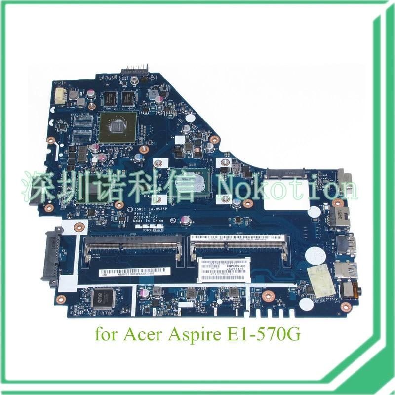 NOKOTION Z5WE1 LA-9535P NBMES11001 NB.MES11.001  For acer aspire E1-570 E1-570G motherboard i3-3217U  GT740M Graphics dc power jack cable connector for acer aspire e1 e1 530 e1 570 570g 570p for gateway ne570 ne572 ne570p dc30100px00 50 mepn2 002