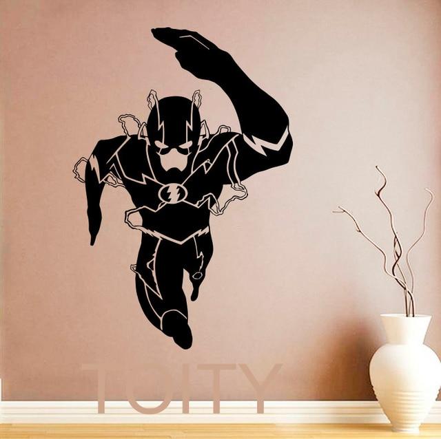 aliexpress com   buy the flash wall sticker superhero movie poster vinyl decal art nursery