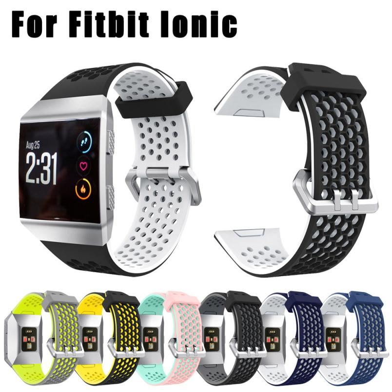 Perforated-Accessory Ventilate Fitness Tracker Lightweight Fitbit Ionic Sport-Bands Silicone