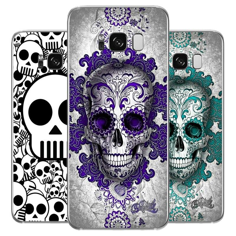 DREAMFOX L546 Skull Soft TPU Silicone Case Cover For Samsung Galaxy Note S 6 7 8 9 10 Edge Plus Grand Prime