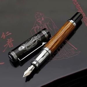 Image 2 - דוכס 551 קלאסי קונפוציוס טבעי במבוק מתכת עט נובע קליגרפיה עט בינוני/כפוף אירידיום 0.7mm/1.2mm עבור משרד מתנה