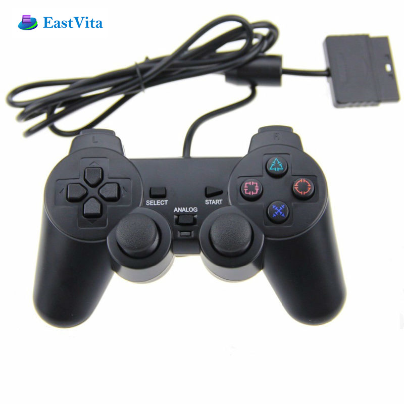 EastVita Wired Gamepad for PS2 Playstation 2 controller joystick gamepads with Shock long cable Double Vibration game Joypad r20 image