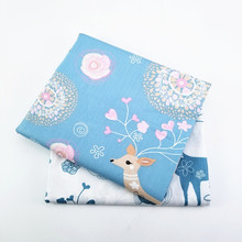 50X40CM Cotton Fabric For Dress With Cute Pattern Printing Quilting Fabric For DIY Sewing Tissue Needlework Material For Kids