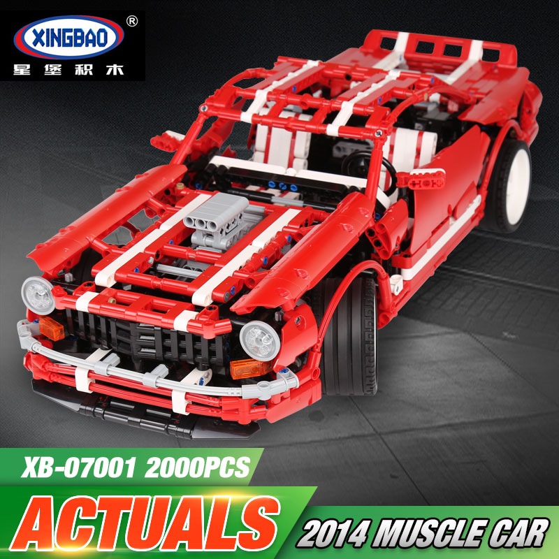 XingBao 07001 2000Pcs Creative MOC Series The 2014 Muscle Car Set children Educational Building Blocks Bricks Toys Model Gifts xingbao 01001 creative chinese style the chinese silk and satin store 2787pcs set educational building blocks bricks toys model