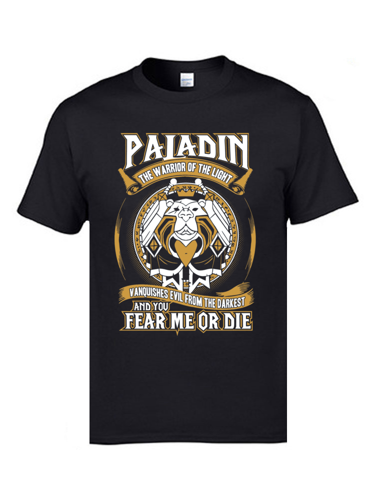 2019 Personalized Tops & Tees Graphic Customized <font><b>T</b></font> <font><b>Shirts</b></font> Crew Neck Tops Tees <font><b>Cow</b></font> Paladin The Warrior Of The Light Male <font><b>T</b></font>-<font><b>Shirts</b></font> image