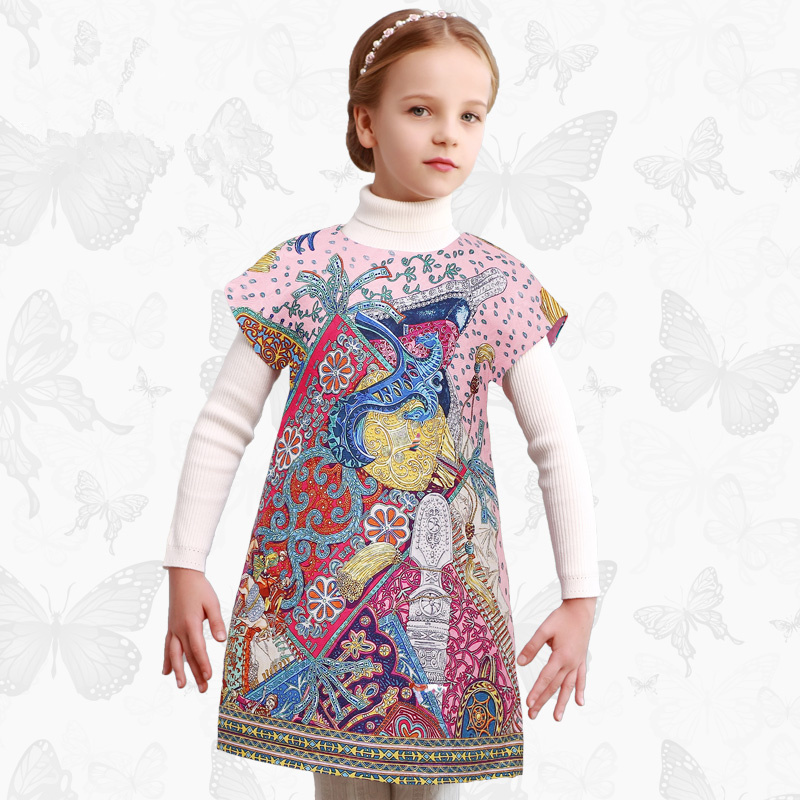 Toddler Girls Dresses Children Clothing 2017 Brand Princess Dress for Girls Clothes Fish Print Kids Beading Dress FANAIDENG 48 toddler girls dresses children clothing 2017 brand princess dress for girls clothes fish print kids beading dress fanaideng 50
