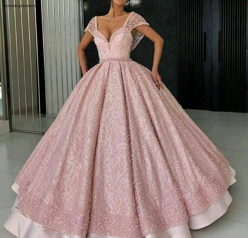 2019 Cheap Pink Quinceanera Dress Off Shoulders Princess Sweet 16 Ages Long Girls Prom Party Pageant Gown Plus Size Custom Made