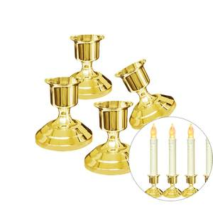 2 pcs Silver/Gold Candles Holder For Candles Party Decors