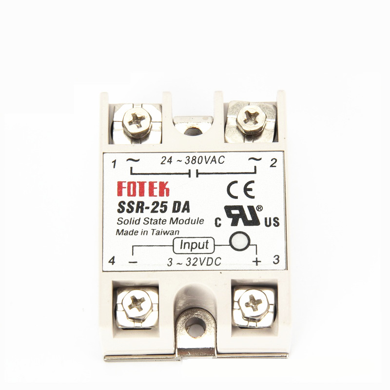 10pcs solid state relay SSR-25DA 25A actually <font><b>3</b></font>-32V <font><b>DC</b></font> TO <font><b>24</b></font>-380V <font><b>AC</b></font> SSR 25DA relay solid state image