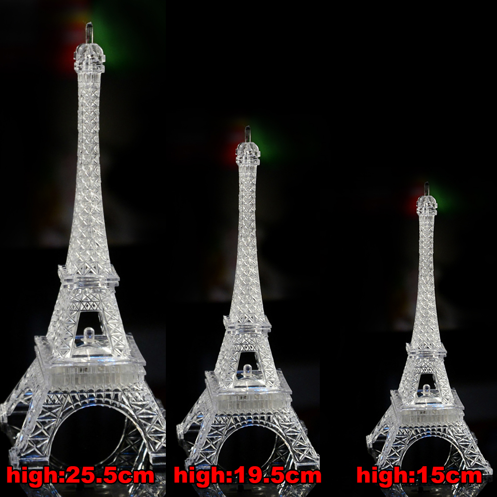 Fashion   Eiffel Tower Lighting Lamp Desk Bedroom Night Light Decoration Table LED Lamp Romantic Atmosphere Lightings