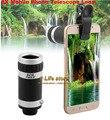Universal lente del telescopio 8X Zoom óptico Clip de teléfono móvil lente para Yota YotaPhone 2