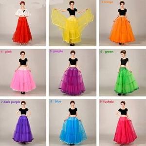 Image 2 - Long Petticoats For Wedding Dress Bridal Petticoat Purple Underskirt Hoepelrok Wedding Accessories Casual Skirt