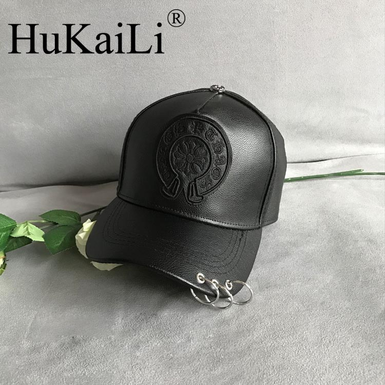 New winter baseball cap joker hat metal ring crow heart han edition cap decorated hats for men and women knights of the new han edition wool equestrian hat baseball cap hats for men and women metal chain badge