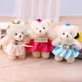Mini Plush bear ice cream drilled bear bouquet Bear doll flower packaging materials flower shop supplies
