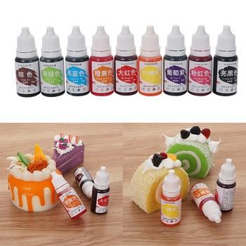 ¡Oferta! 1 unidad de crema para macaron de 10 ML, ingredientes colorantes para alimentos, pastel Fondant, pastel de hornear, pigmento de Color comestible, utensilios para horneado y pastelería