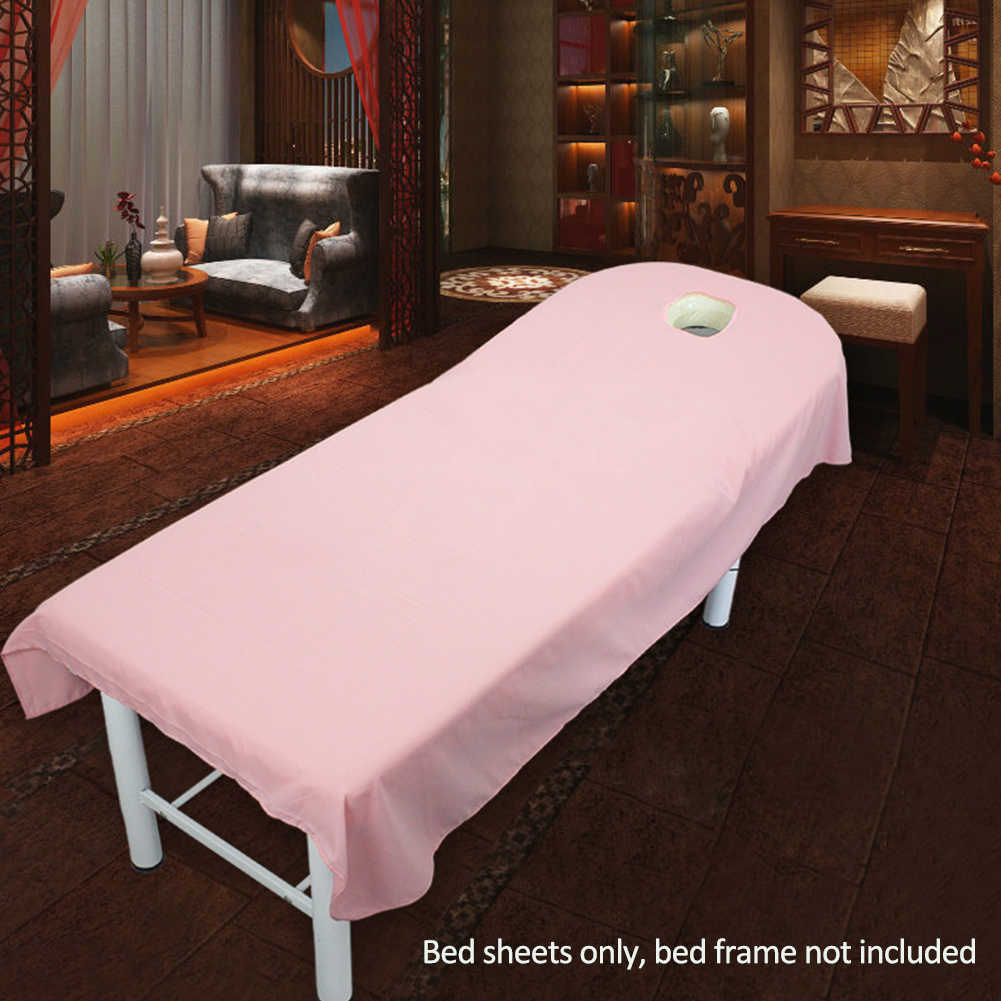 Soft Couch Plain Comfortable Home Polyester Wrinkle Resistant Massage SPA Bed Sheet Table Cover Bedding Article Microfiber Salon