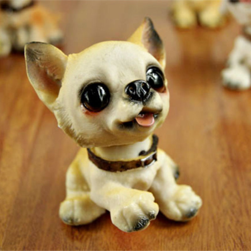 6pcs/lot 10*9*8cm Resin Kawaii Cut Creative Pet Dog Pup Children Kid Birthday Gift Home Car Ornaments Miniatures Free Shipping