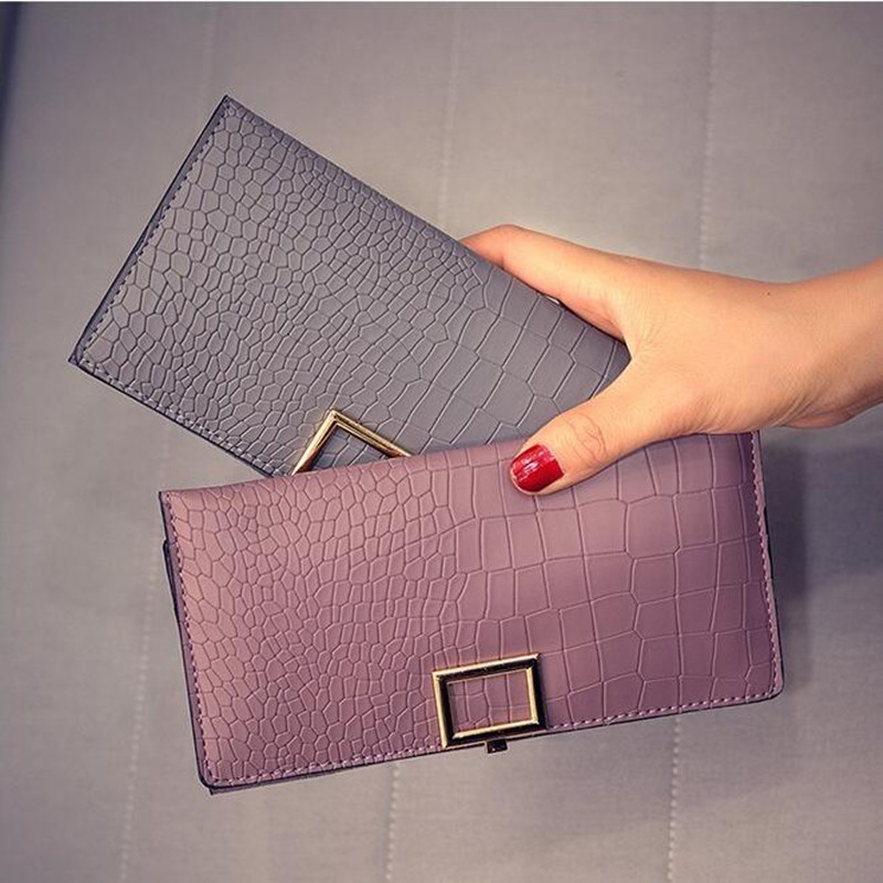 2018 PU lady wallet long wallet retro solid stone pattern multi-card holder clutch fashion standard wallet credit cardholders