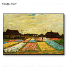 Artist Hand-painted High Quality Van Gogh Canvas Artwork Flower Garden Oil Painting Reproduce Dutch