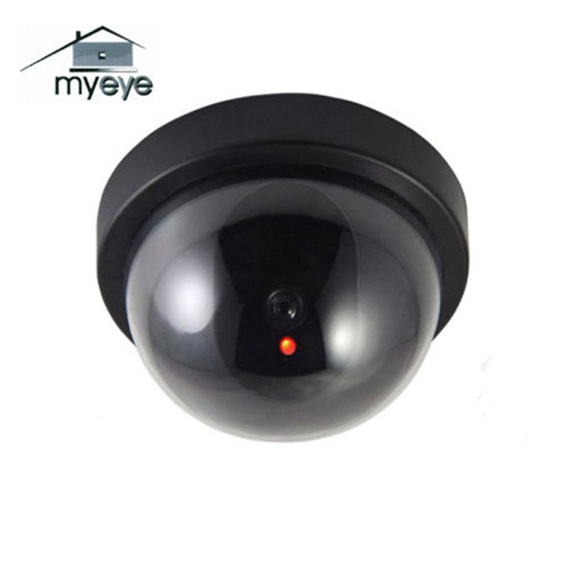 Myeye Dummy Camera Dome Fake Camera CCTV Video Surveillance Indoor Outdoor With IR LED Light  Home Security fake dummy security camera cctv surveillance system with realistic simulated leds outdoor indoor for home cam warning sticker