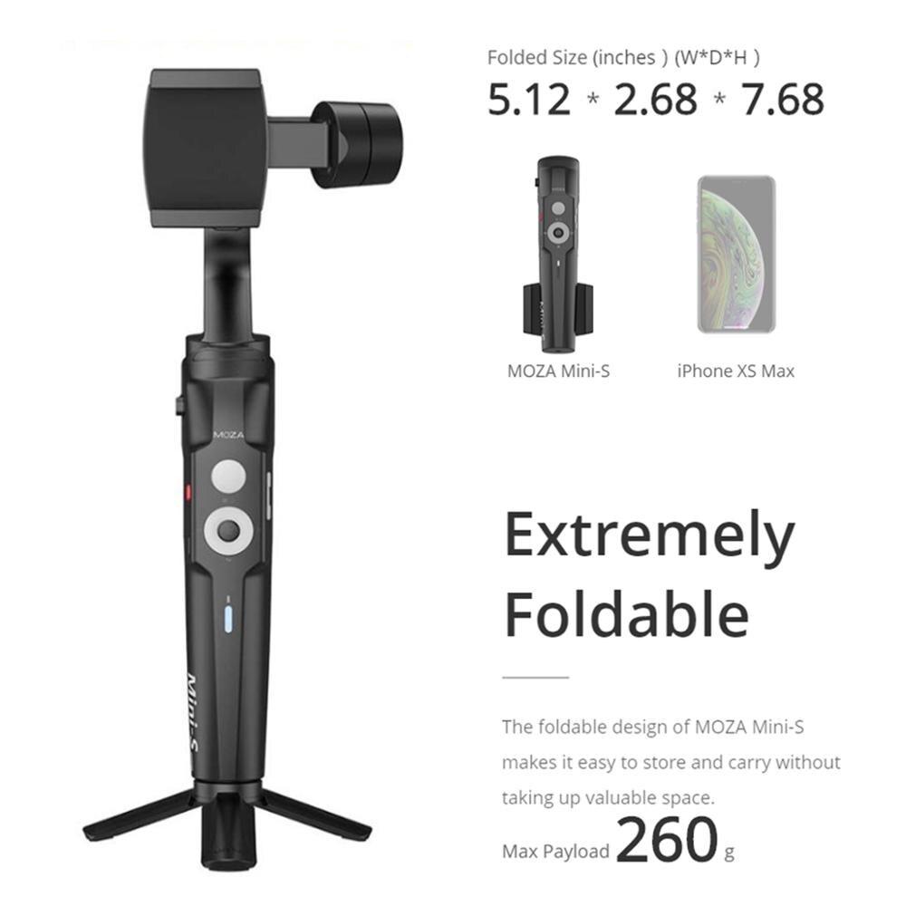 (В наличии в России) Moza Mini S складной 3 осевому гидростабилизатору Vlog стабилизатор для iPhone X 8p huawei P30 Pro GoPro 7/6/5 - 3