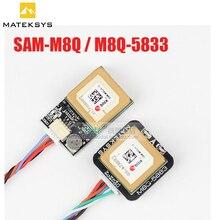 Matek sistemas M8Q 5883 SAM M8Q gps & qmc5883l, módulo para rc drone fpv racing modelos, acessórios de peças