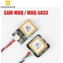 Matek sistemleri M8Q 5883 SAM M8Q GPS ve QMC5883L pusula modülü RC Drone FPV için yarış modelleri parçası aksesuarları
