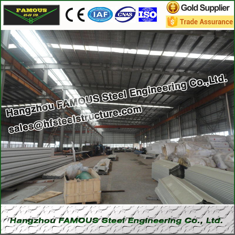Prefabricated Light Structural Steel Fabrications Construction Building