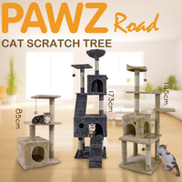 Cat Tree High Stability Cat Climbing Climber With Ladder Cat Furniture Pet Scratching Post With Hammock Cat Toy Ball jouet chat