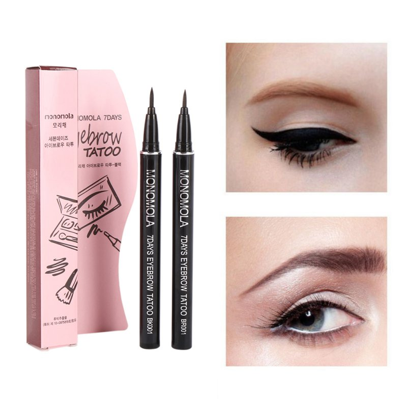 1Pcs Profession Eyeliner Women Makeup Product Waterproof Brown 7 Days Eye Brow Eyebrow Tattoo Pen Liner Long Lasting Makeup image