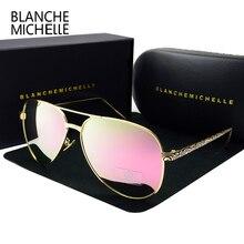 2017 высокое качество пилот Солнцезащитные очки для женщин Для женщин поляризационные UV400 Защита от солнца стекло зеркало Защита от солнца Очки Брендовая дизайнерская обувь розовый объектив с Оригинальная коробка