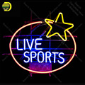 Неоновая вывеска для Live Sport неоновая лампа звезды настоящая афиша из стеклянных трубок неоновый декор для домашнего окна ручная работа anuncio ...