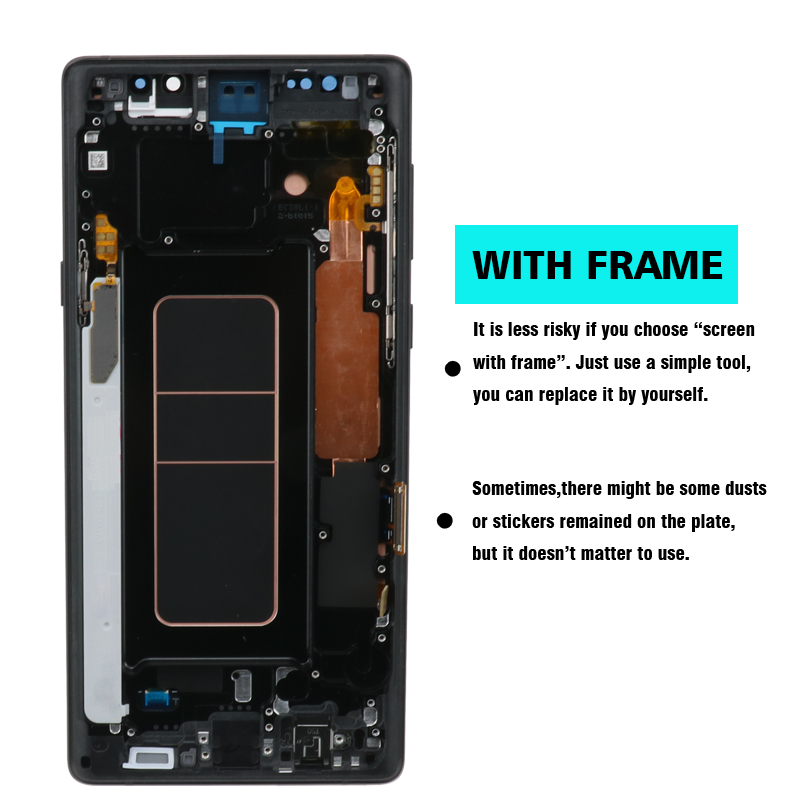 HTB1kODwJXzqK1RjSZFvq6AB7VXao ORIGINAL SUPER AMOLED 6.4'' LCD with frame for SAMSUNG GALAXY Note 9 Note9 N960F Display Touch Screen Digitizer Assembly