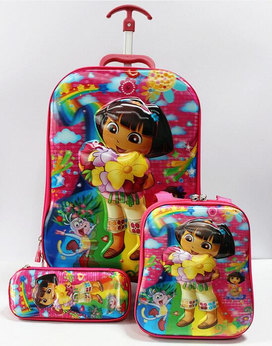 ФОТО New Sophia  5D luggage sets  travel suitcase wheel (lunch box + pen boxes+trolley luggage ) EVA trolley case